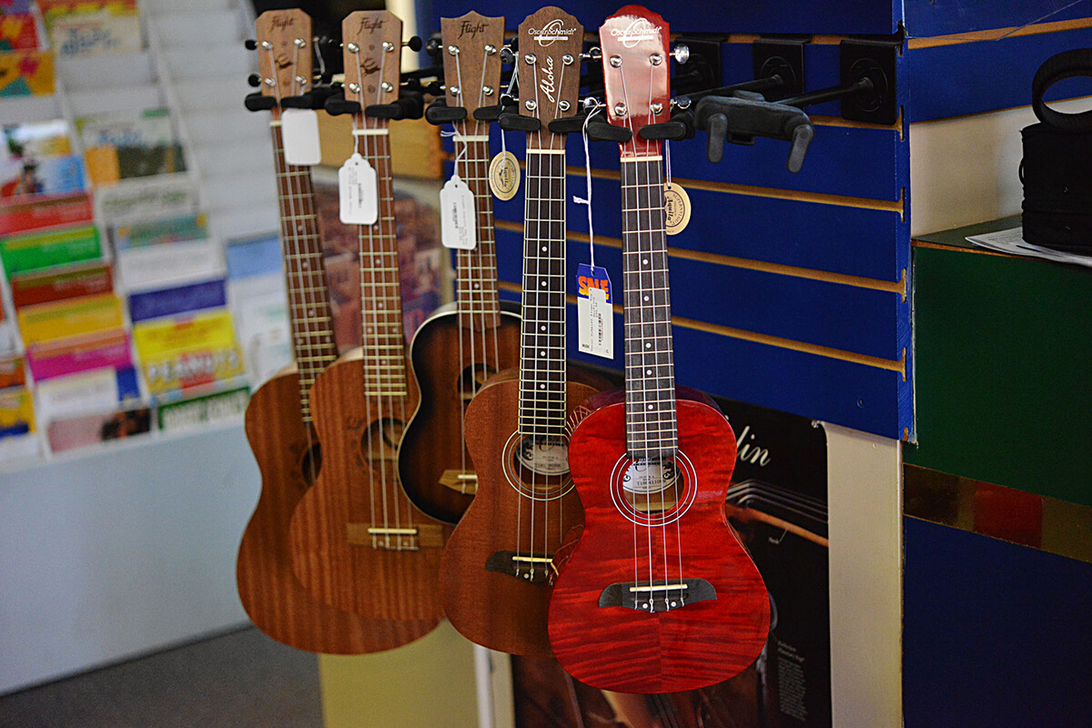 Ukuleles and Baritone Ukuleles